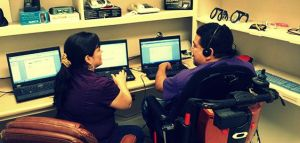 Tour the Technology Lab to try out assistive devices and software.